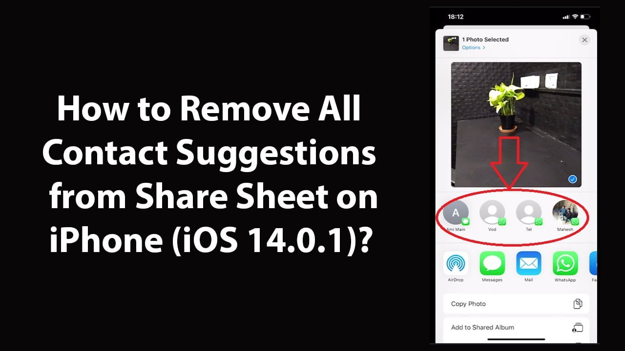 How to Remove Contact from Share Sheet Suggestions on iPhone